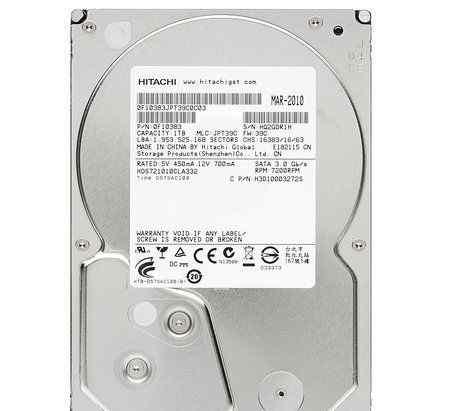 Hitachi HDS721010CLA332, 1Тб, HDD, SATA II, 3.5