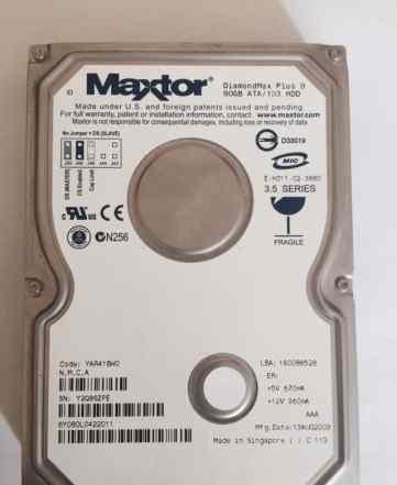 Жесткий диск 80 Gb Maxtor IDE 3.5