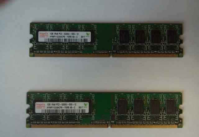 Оперативная память для пк Hynix 2шт по 1GB новые