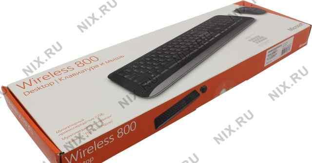 Беспроводная клавиатура и мышь Microsoft 800