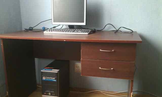 Компьютер. Системный блок, монитор, вэб камера
