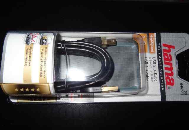 Кабель hama USB 2.0 A-В (m-m), 1.8 м