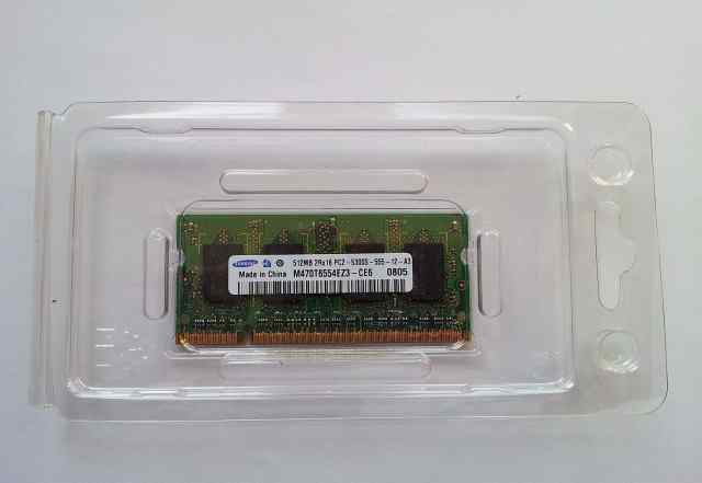 Память ноутбука DDR2 samsung 512MB 2Rx16 PC2-555