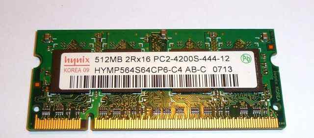 SO-dimm PC2 512Mb 4200S Hynix