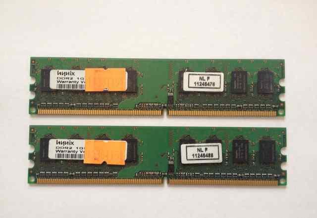Память DDR2 2 планки по 1 GB