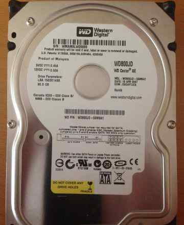 Жесткий диск Western Digital 80GB