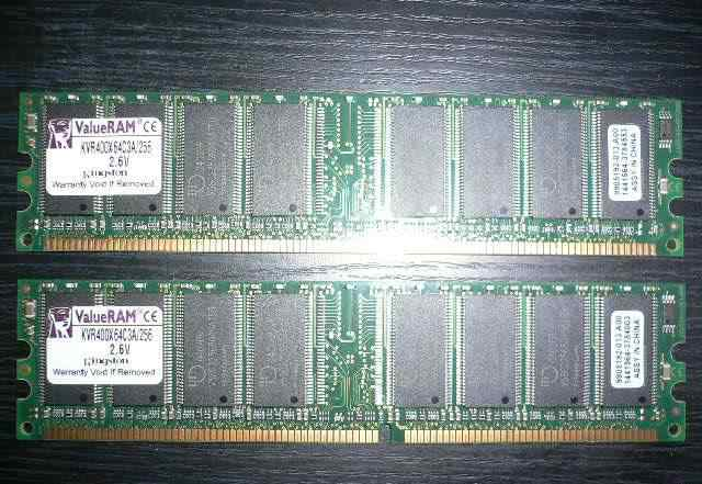 Kingston DDR400 PC3200 256Mb KVR400X64C3A/256 4шт