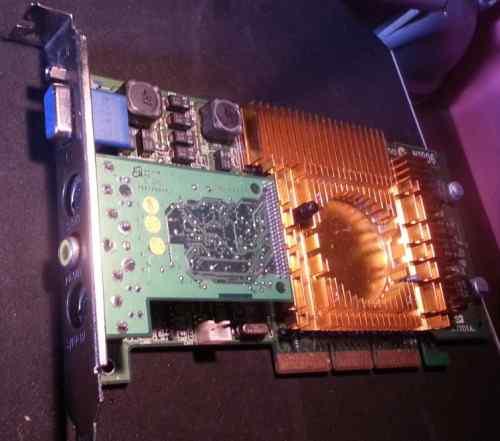 AGP видеокарта 128Мб