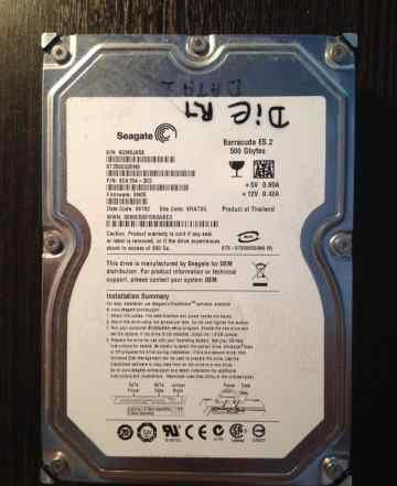 Убитый. Жесткий диск 500 Seagate ES.2 ST3500320NS
