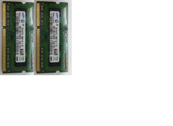 Модули памяти Samsung SODimm DDR3 2x2GB 1333Mhz