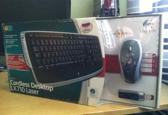 Клавиатура Logitech Cordless Destop LX710 Laser