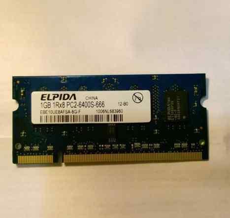 DDR2 sodimm PC2-5300 667MHz - 1Gb б/у