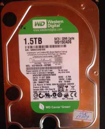 Диск 1.5 TB Western Digital SATA