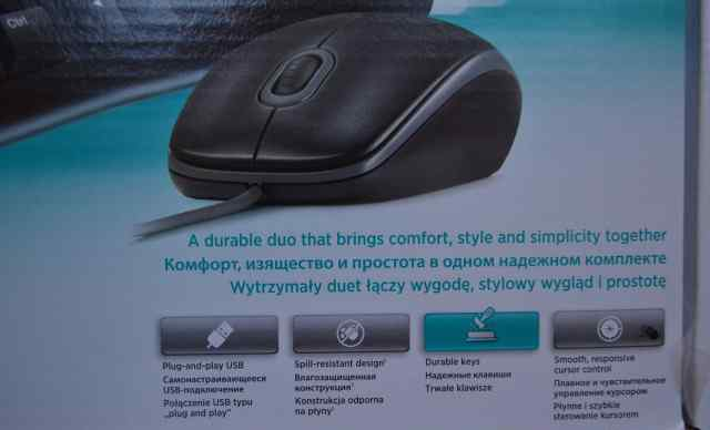 Клавиатура и мышь Logitech Desctop mk120