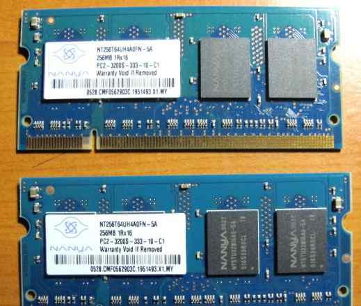 Память 256MBx2 Sodimm DDR2 PC2-3200S Dell Latitude