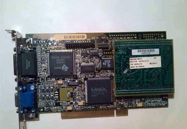 Видеокарта Matrox Millennium MGA-MIL/MO D2 4Mb PCI