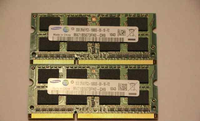So-dimm ddr3 pc3-10600s 2x2Gb Samsung
