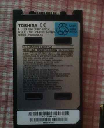 Аккумулятор toshiba pa3285. Сост отл. Емкость 85