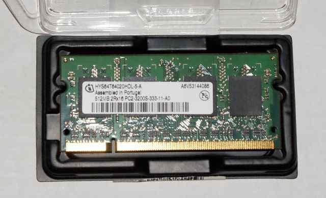 Память для ноута SO-dimm 512Mb 2Rx16 PC2-3200S-333