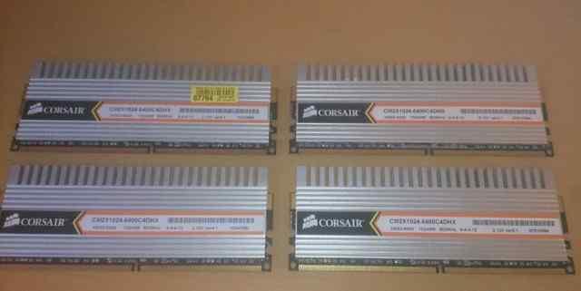 Оперативная память DDR2 Corsair dimm 2 x 1Gb 800Mh