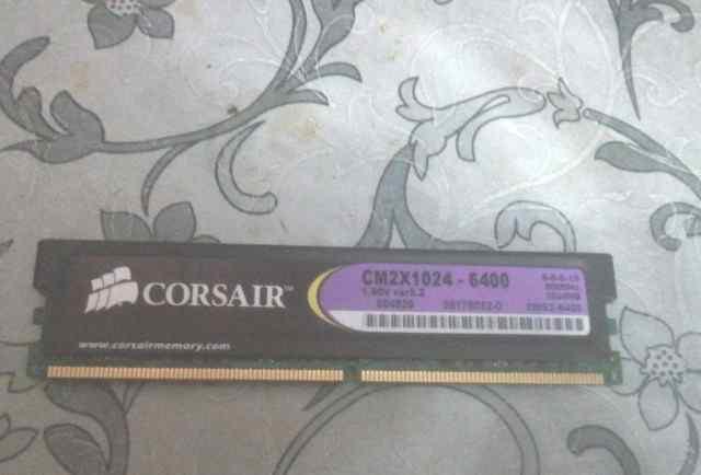 Память DDR2 на 1 gb Corsair CM2X1024-6400 800Mhz