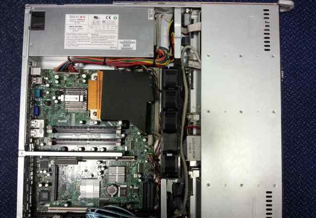 Сервер supermicro 1xE7200/2х2Gb/DVD/Rack 1U