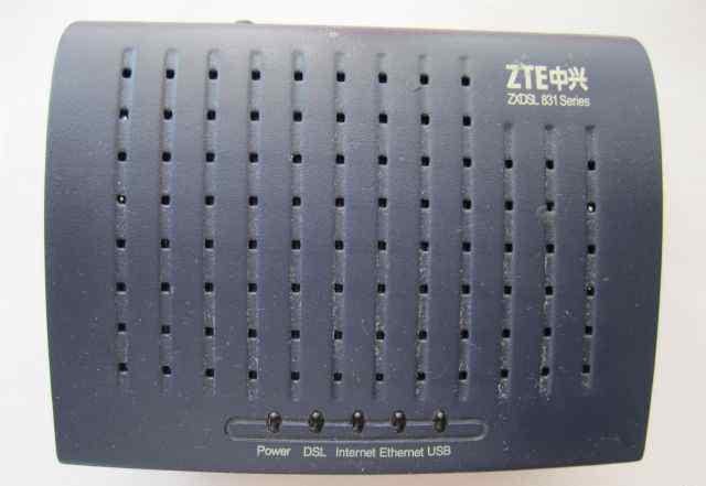 Adsl модем ZTE ZX DSL 831 A II