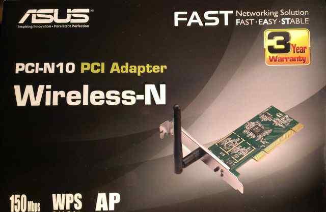 Беспроводная сетевая карта asus PCI Adapter