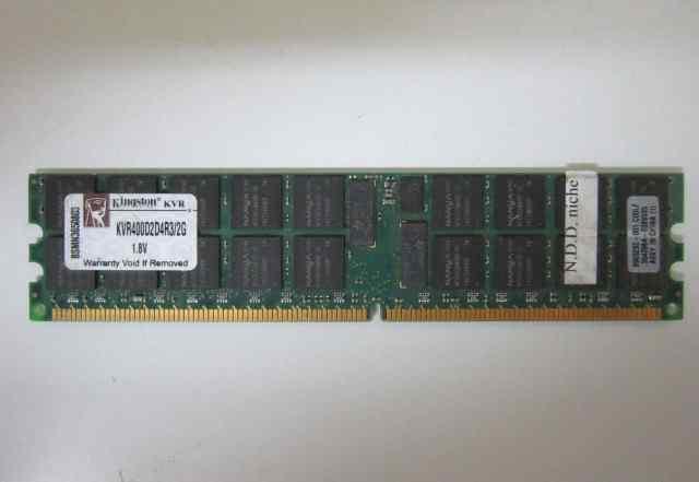 Серверная память 2 гб ECC Kingston KVR400D2D4R3/2G