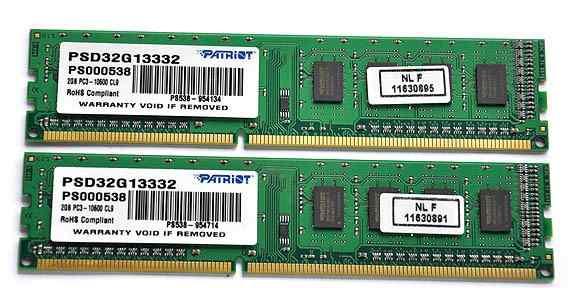 Dimm DDR3 2GB Patriot PSD32G13332 1333MHz