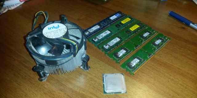 Комплект процессор(2 ядра) + память