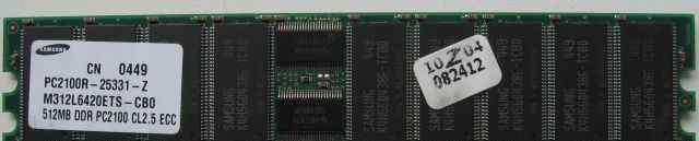 Dimm DDR ECC REG 512Mb Samsung PC2100