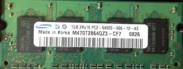 Оперативная память Samsung 1 Gb M470T2864QZ3-CF7