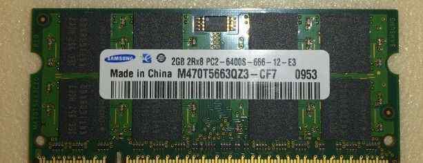 Оперативная память RAM Sodimm для ноута DDR2 2Gb