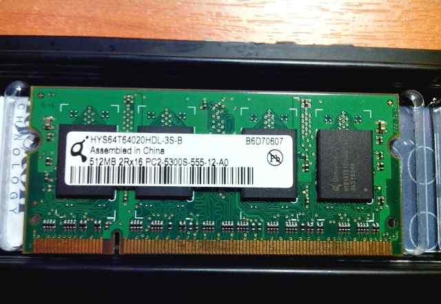 Оперативка 1x512Mb 2Rx16 PC2-5300S-555-12-A0 DDR2