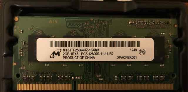Оперативная память Micron 2х2Gb