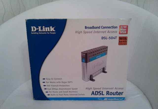 Adsl модем/роутер D-Link DSL-504T + сплиттер