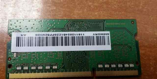 Оперативная память для ноутбуков Samsung ddr3 L 2G