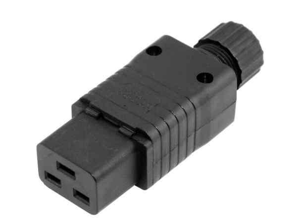 Вилка IEC 320 C19 для сервера. Серверная вилка