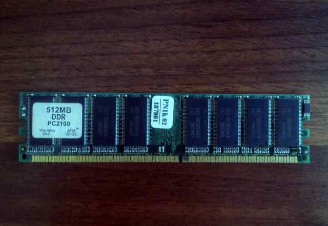 Опер. память dimm DDR, 512 MB, PC-2100, 266 мгц