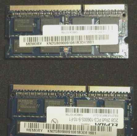 Модуль памяти PC3 - 2X2Гб для ноутбука