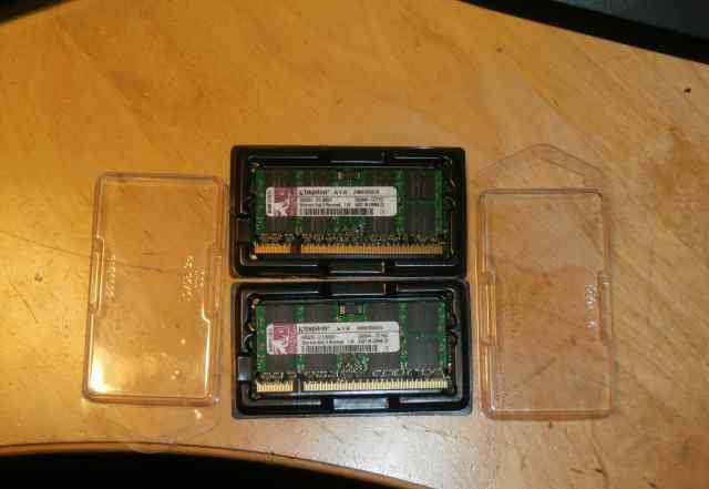 Kingston DDR2-667 SO-dimm 1Gb (2 штуки)