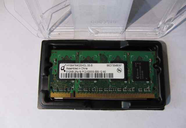 Оперативная память 512 MB 2Rx16 PC2-5300S-555-12