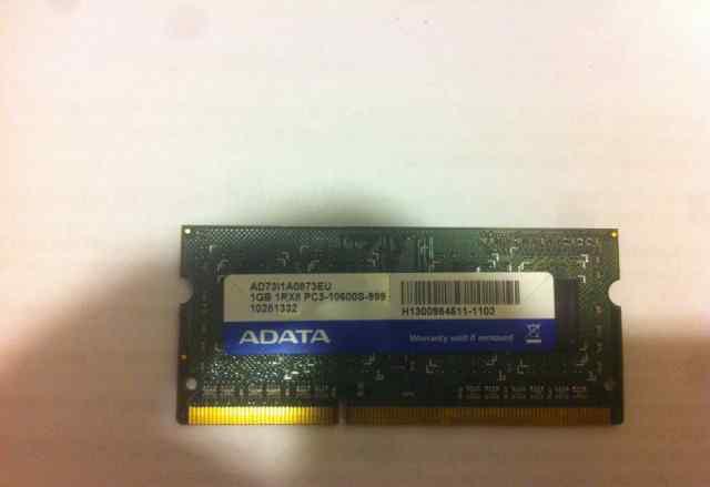 SO-dimm DDR3 1GB (adata)