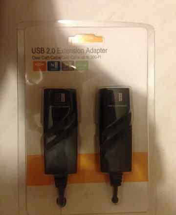 Удлинитель USB2.0 - LAN (RJ45) - 100 метров