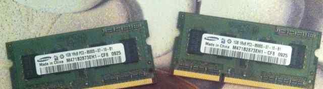 SO-dimm Samsung 2шт 1Gb pc3-8500 1Rx8
