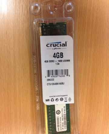 RAM DDR3 4GB Crucial CT51264BA160BJ
