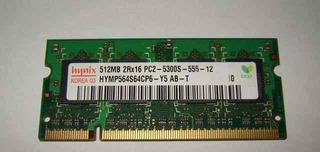 Память для ноутбуков Hynix 2Rx16 DDR2 512Mb