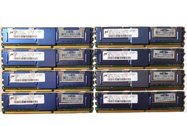 Cерверная память Micron 8х2Gb PC2-5300F FB-dimm