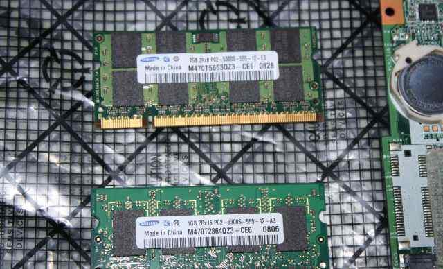 Samsung SO-dimm 2Gb + 1Gb DDR2 PC2-5300